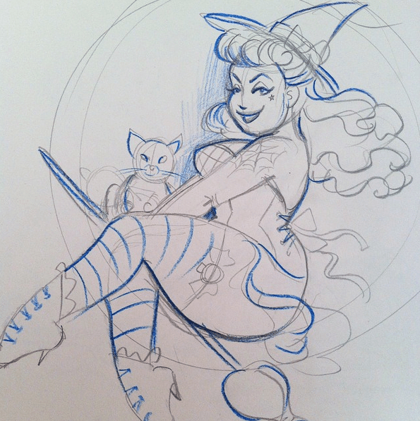 Charlotte Thomson Morley Witch Sketch