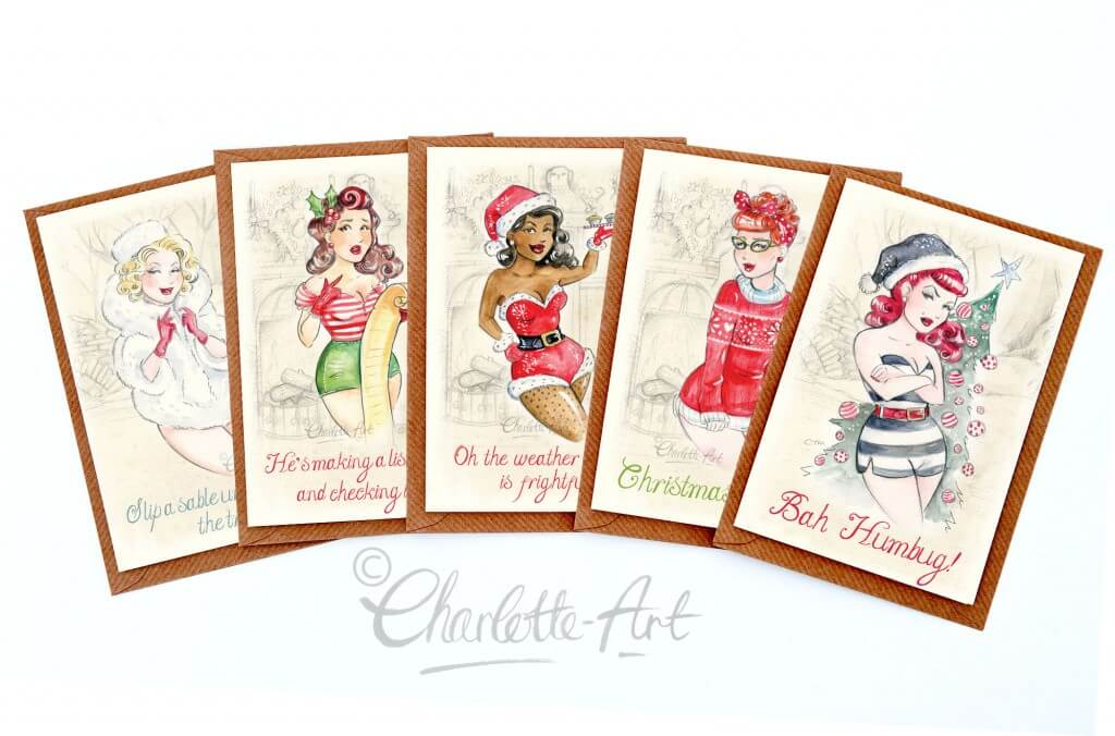 A small selection of my christmas card designs